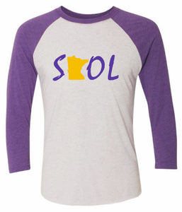 Next Level - Unisex Tri-Blend  Baseball Raglan Tee SKOL