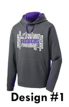 Load image into Gallery viewer, MCC TRACK & FIELD Sport-Tek® Sport-Wick® Fleece Colorblock Hooded Pullover -  DESIGN CHOICE