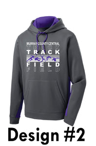 MCC TRACK & FIELD Sport-Tek® Sport-Wick® Fleece Colorblock Hooded Pullover -  DESIGN CHOICE