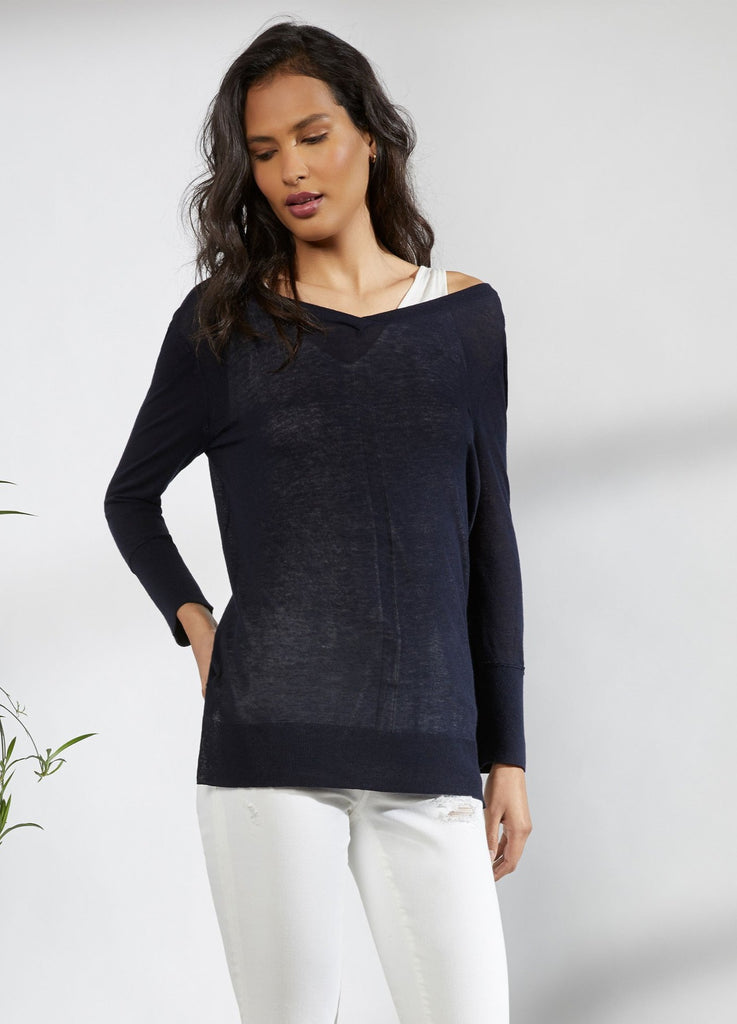 Double Layer V-Neck Top