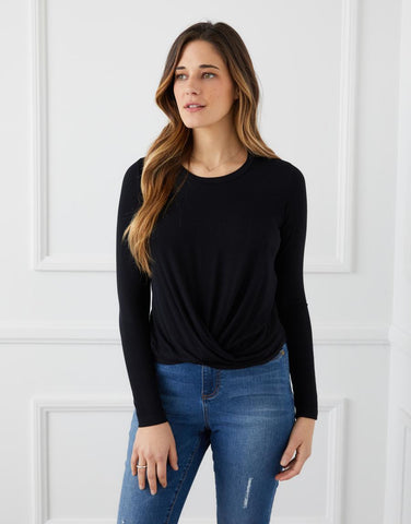 Twist-Front Top-- Black only