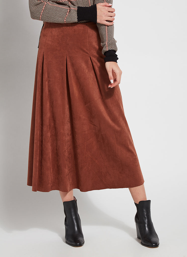 Vegan Suede Pleated Boot Skirt