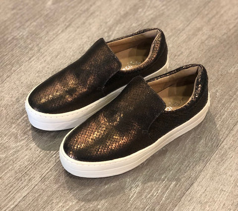 J/Slides Metallic Bronze Sneaker