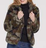 Camo Faux-Fur Coat