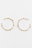 Studded Hoop Earrings - Moonstone