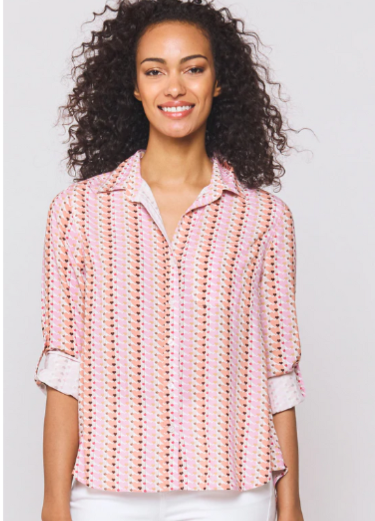 Pink Heart Stripe Shirt