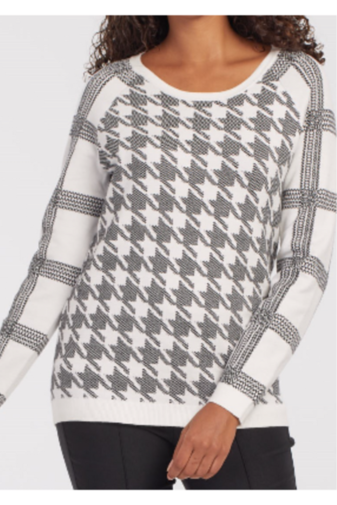 Reversible Houndstooth Sweater