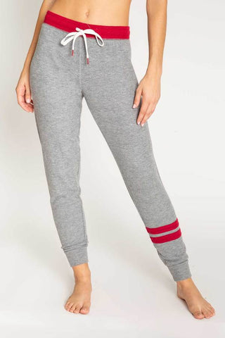 Banded Jogger With Stripes