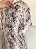 Ruffle Sleeve Snakeskin Top