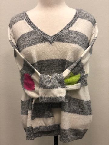 Neon-Pop Stripe Sweater
