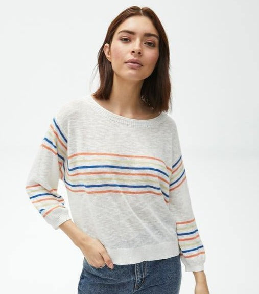 Retro Stripe Pullover