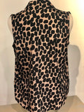 ZSleeveless V-Neck (Animal Print)