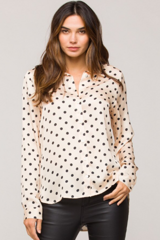 Black and Ivory Polka Dot Blouse