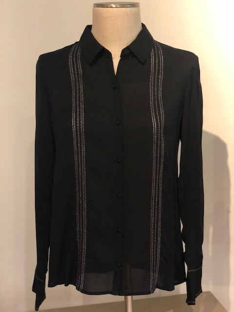 Metallic Embroidery Shirt