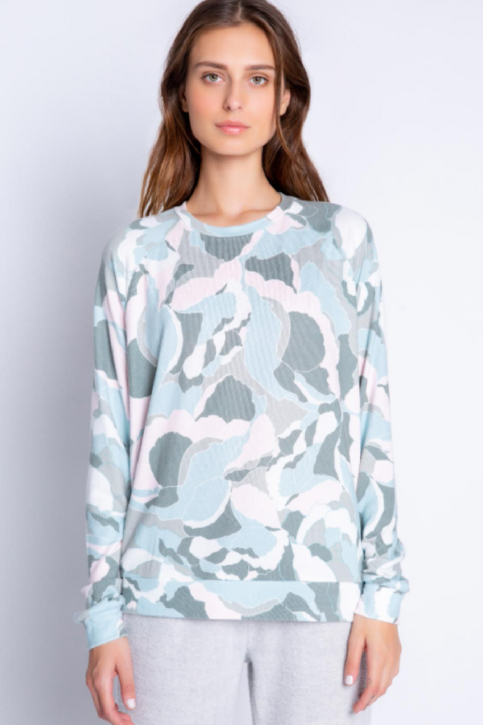 Camo Bloom Top
