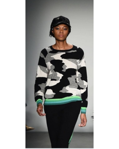 Kelly Camo Stripe Cashmere