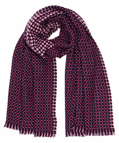 Cross Dot Textured Scarf - Lilac