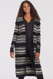 Textured Stripe Duster Cardi