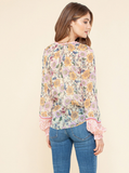 Willa Ruffle Blouse (Pink or Ivory)