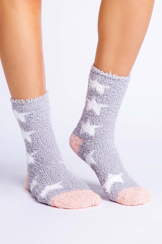Fun Socks Star  Grey