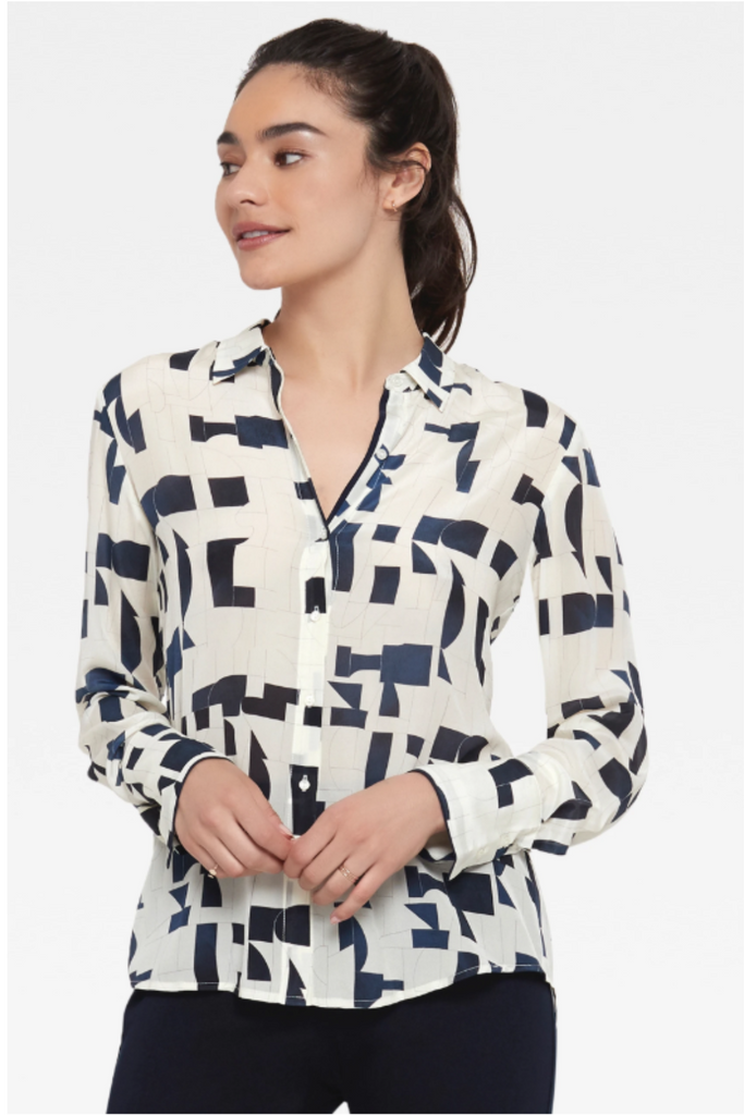 Hepburn Abstract Blouse