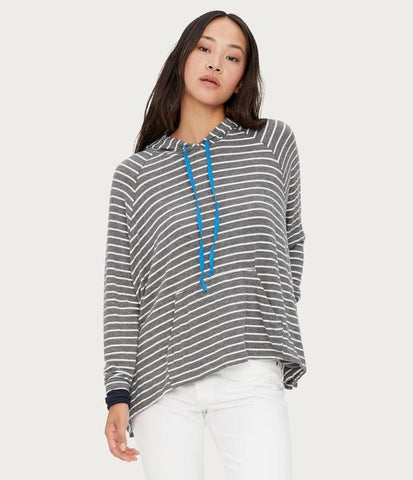 Relaxed Striped Hoodie