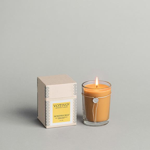 Votivo Aromatic Candle- Honeysuckle
