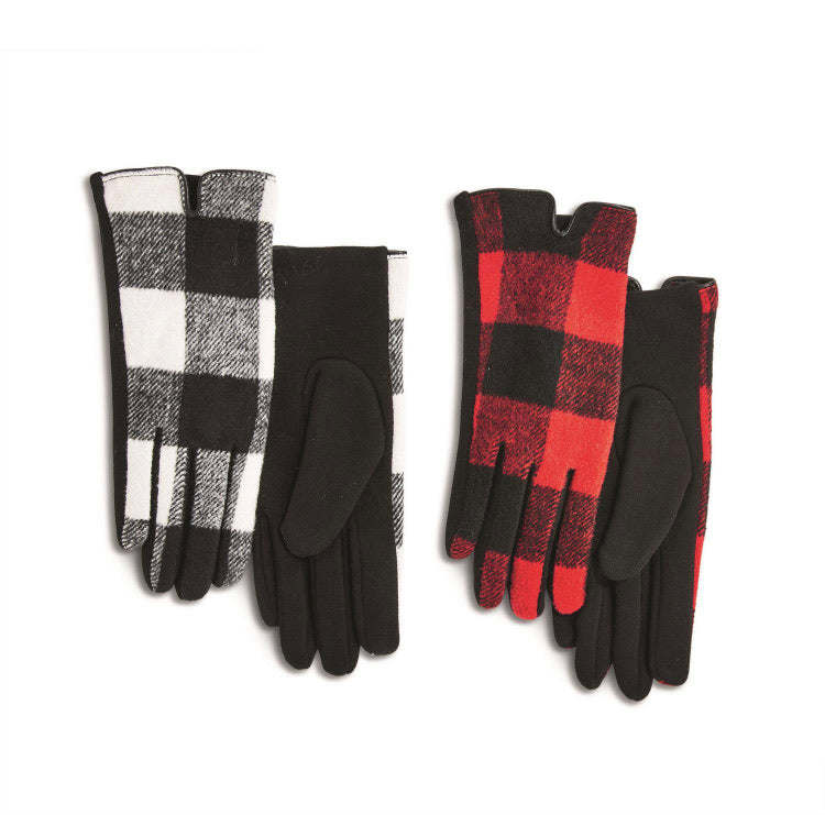 Buffalo Plaid Glove - Black or Red Combo
