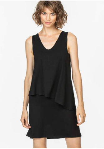 Double Layer Dress - Black