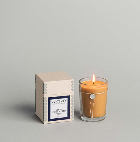 Votivo Aromatic Candle - Clean Crisp White