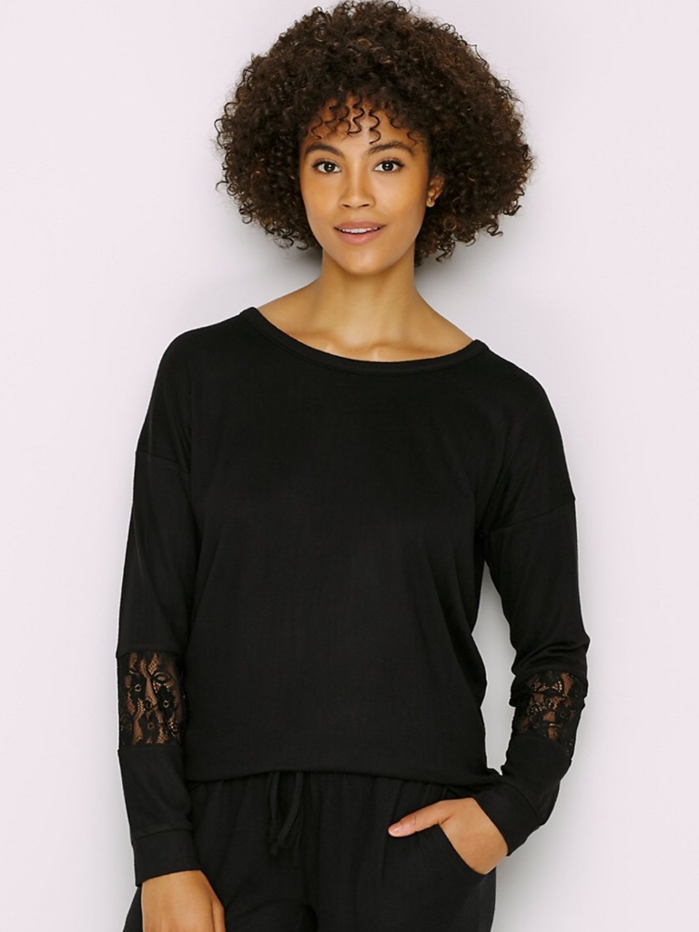 Super Soft Lace Inset Top