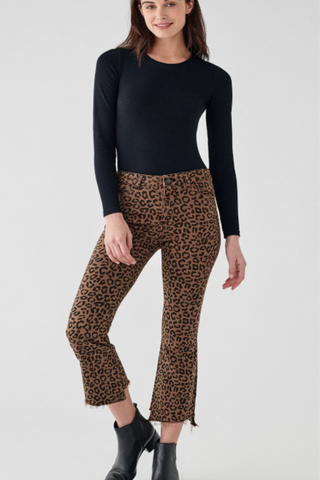 Jaguar Crop High-Rise Bootcut Jean
