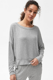 Kiara Boatneck Top - Heather Grey