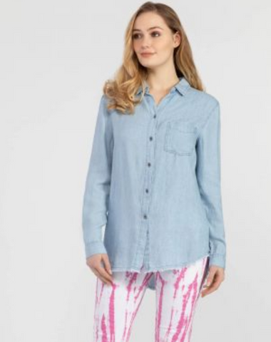 Raw Edge Light Chambray Shirt