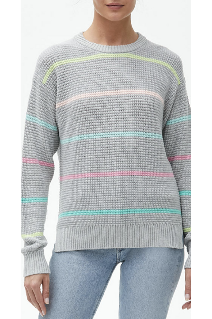 Maggie Stripe Sweater- Grey