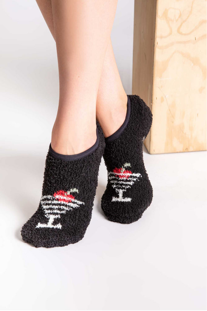 Fuzzy Martini Socks