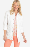 Maxi Jean Jacket in White