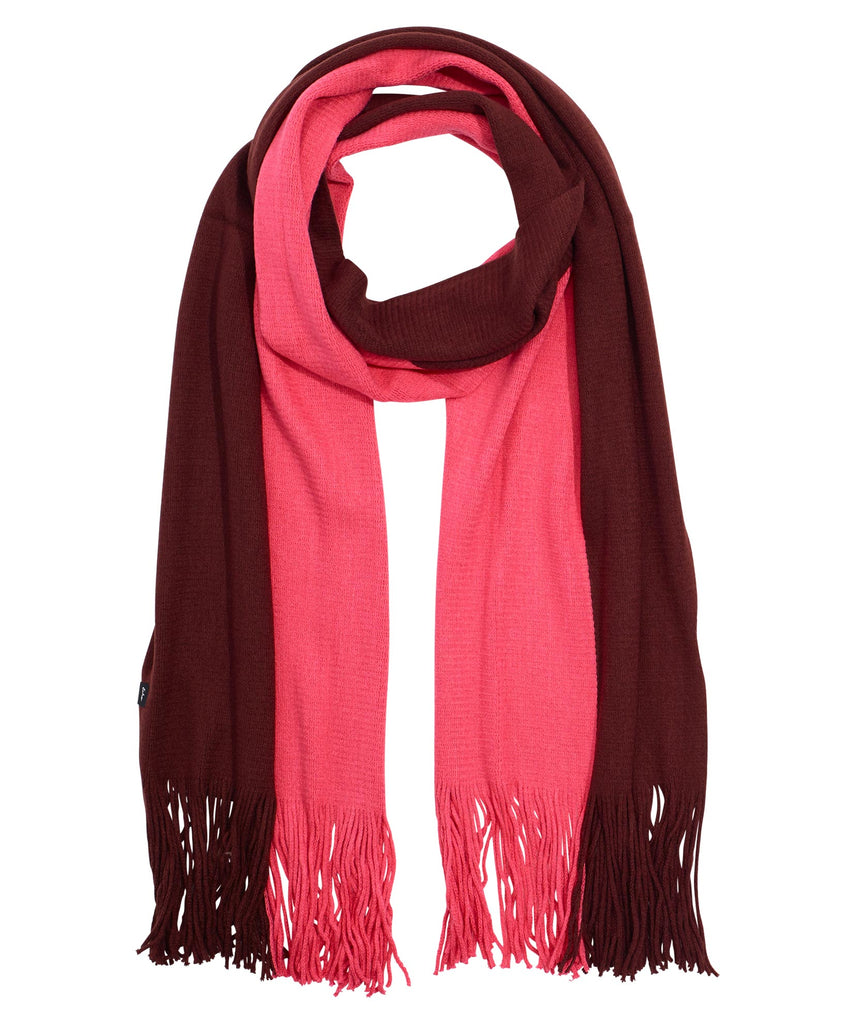 Fringed Milk Muffler - Rouge