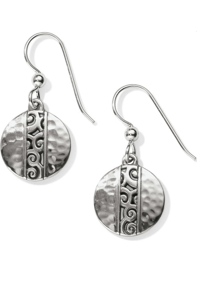 Hammered Disc Earring