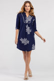 Leaf Print Tunic Dress