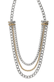 Multi Chain Mixed Metal Necklace