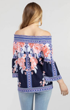 Floral Off-Shoulder Bell Sleeve