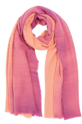 Brushed Ombre Scarf - Peach/Pink