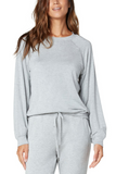 Soft Raglan Sleeve Sweatshirt - Heather Grey