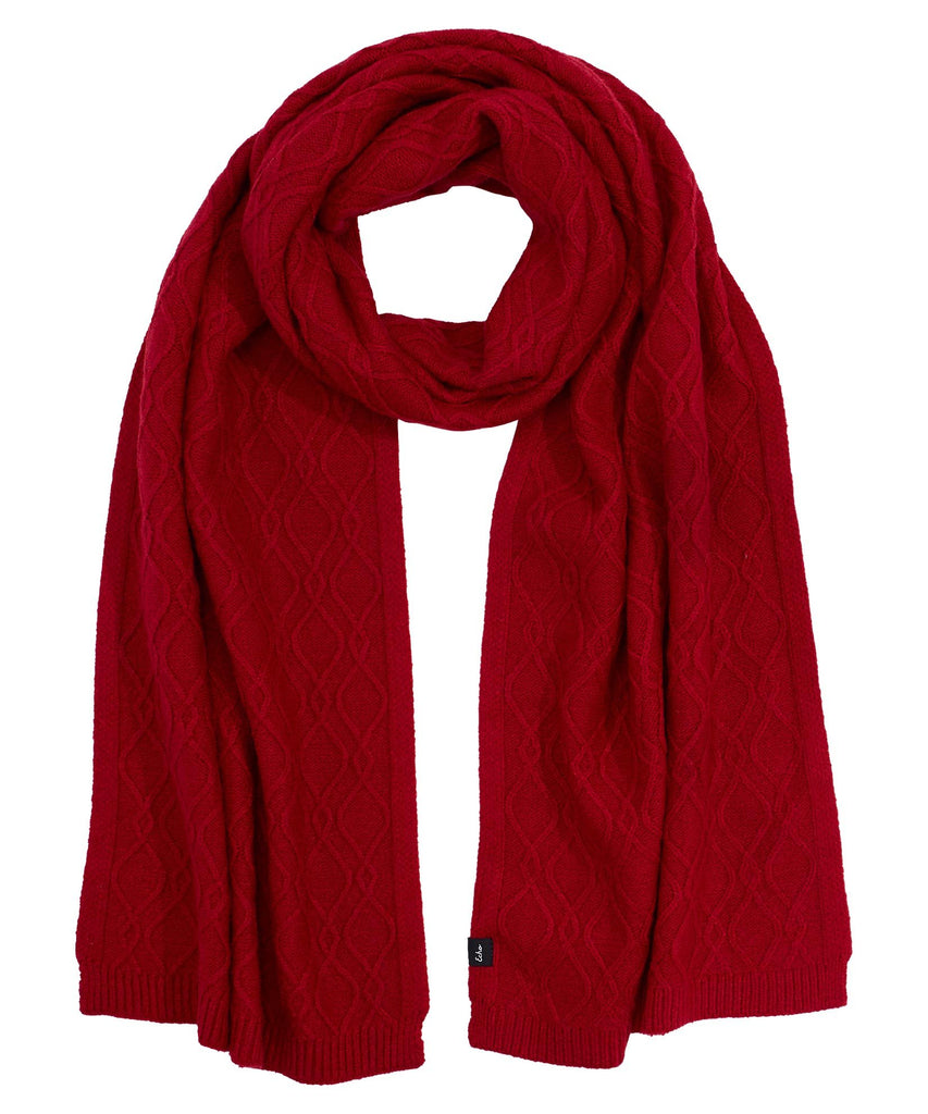 Recycled Cable Scarf - Ruby Red