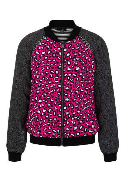 Reversible Print Bomber Jacket