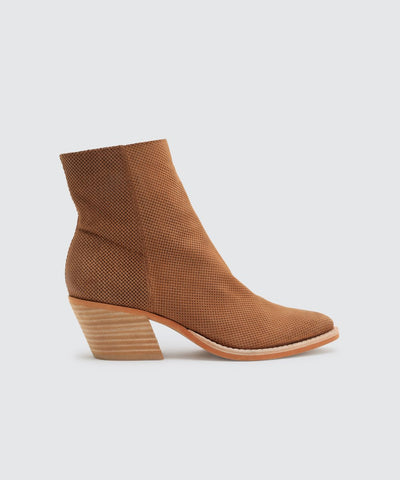 ASHA Perforated Saddle Booties