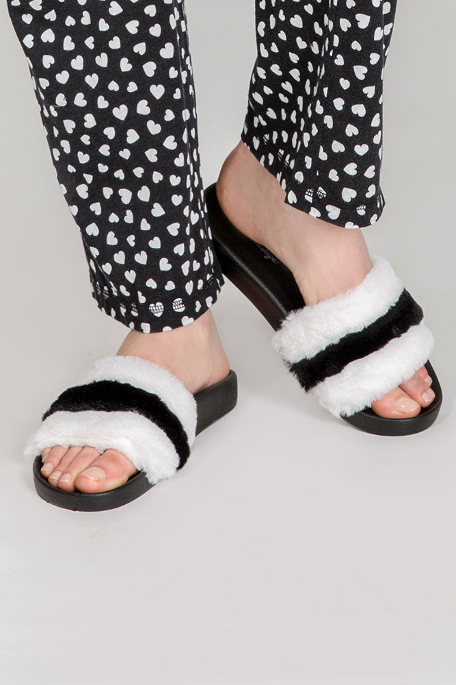 Furry Slipper Slides