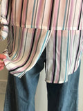 Roll-Tab Lavender Stripe Shirt