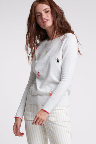 Embroidered Swimmers Sweater
